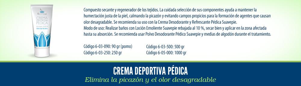 Crema Deportiva pedica